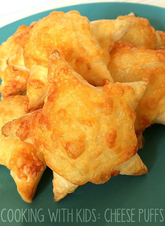 Cooking With Kids: Cheese Puff Recipe. Simple enough for kids to make, these cheese puffs make a great afternoon tea snack or lunch box treat.
