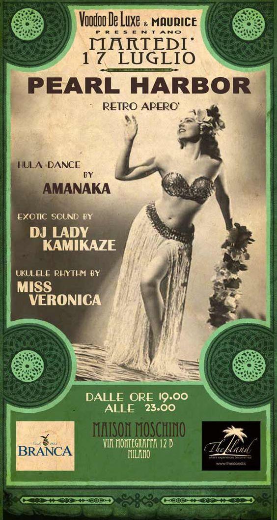 Pearl Harbor: il party hawaiiano con la dj giapponese Lady Kamikaze all'Hotel MAison Moschino, questo MArtedi 17 dalle ore 19 alle 23      http://www.facebook.com/events/270887669692408/