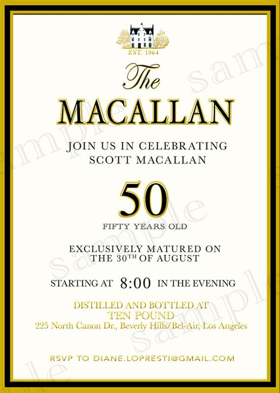 custom scotch label whiskey macallan black and gold scotch