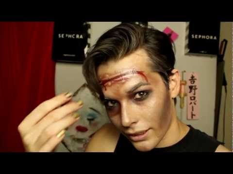 Rocky Horror Picture Show Eddie Make Up - YouTube Cosplay - halloween horror makeup ideas