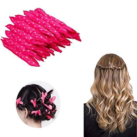 Kaptin Foam Hair Curler Curling Drum Pillow Cloth Hair Rollers Night Sleep No Heat Diy Hair Styling Roller Tools Pink Diy Hairstyles Hair Curlers Hair Rollers