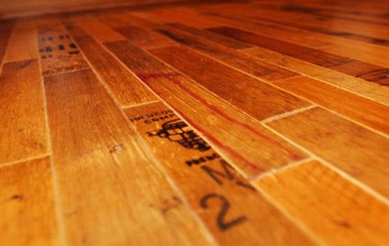 Vintage Wine Barrel Flooring by Fontenay Wood - 3rings