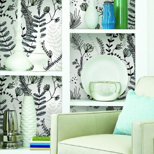 Verso Peel And Stick Wallpaper By York Lelands Wallpaper Peel And Stick Wallpaper Removable Wallpaper Black And White Design