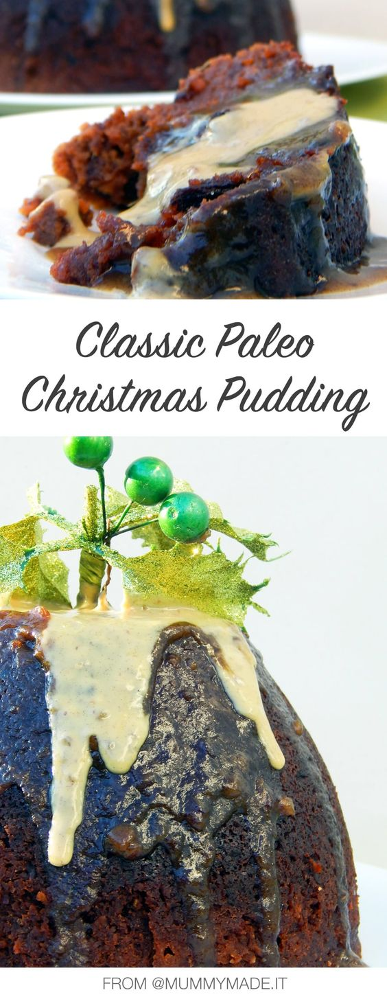 Classic Paleo Christmas Pudding With Vanilla Custard - Guest Recipe from Lisa McInerney's eBook Mummy Made It A Healthy Christmas