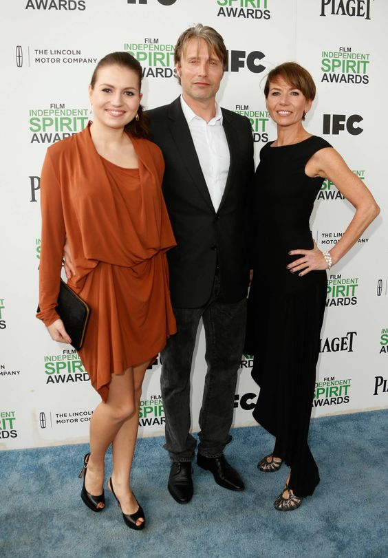 mads mikkelsen with wife and daughter at Film Independent ...