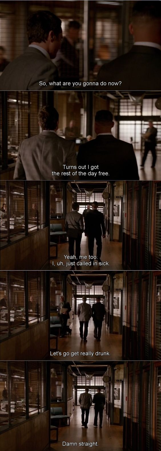"""""""I just called in sick. Let's go get really drunk"""" - Ryan and Esposito #Castle"""