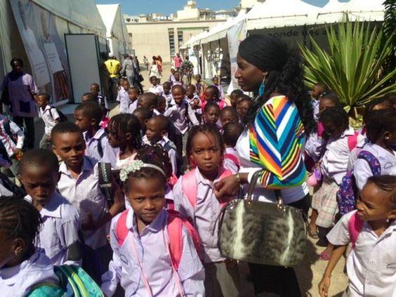 Les enfants des écoles arrivent au village de la #Francophonie à #Dakar ce matin @SFDK2014 #SFDK2014 @OIFfrancophonie.