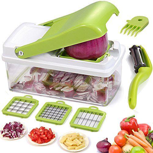 Multi Lame mandoline trancheuse fruits légumes hachoir Cuisine Cutter Food Outil