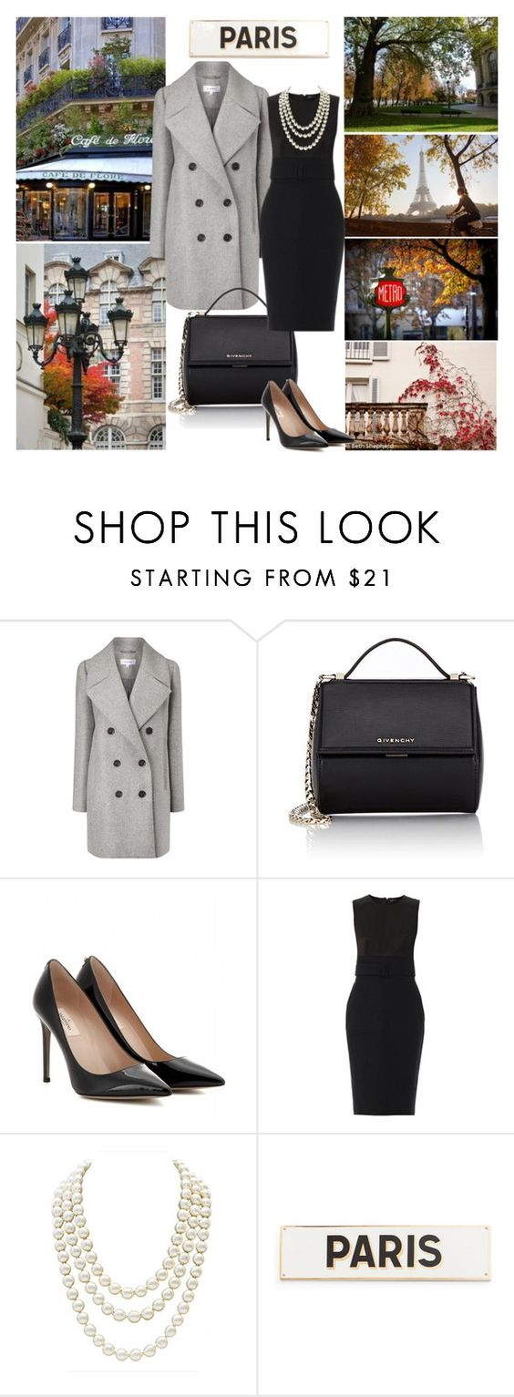 """""""Coat Outfit for Fall Weather: Paris"""" by katsin90 ❤ liked on Polyvore featuring Carven, Givenchy, Valentino, Alexander McQueen, Chanel, Rosanna, paris, coat and fall2015"""