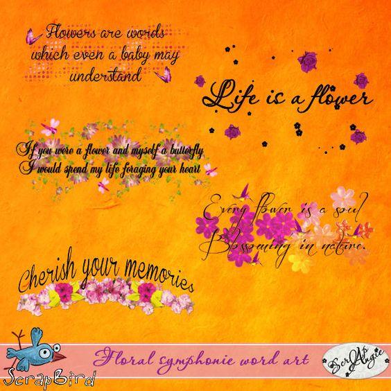 Floral symphonie word art by Scrap'Angie