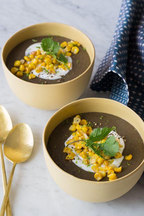 Spicy Black Bean Soup | Spoon Fork Bacon