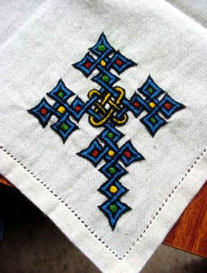 Ethiopian embroidered linen