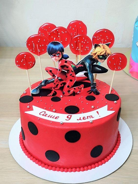 VEM VER +34 Ideias de Bolo Decorado Ladybug  #Festa #FestaInfantil #FestadeAniversario #Aniversario #Bolo #BoloDecorado #LadyBug