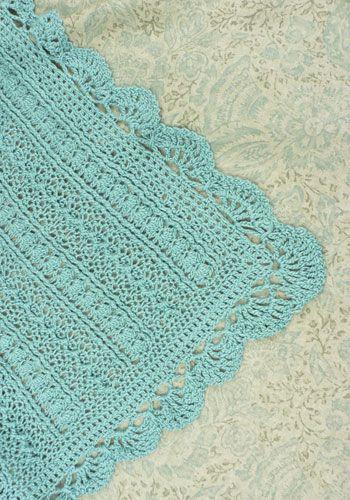 crochet baby blanket Crochet Edging Pinterest ...