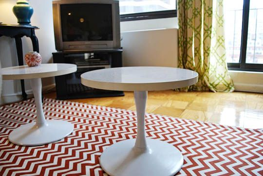 DIY chevron rug.