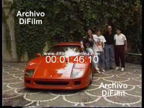 Difilm Diego Maradona Y La Ferrari 1990 Youtube Diego Maradona La Ferrari Youtube