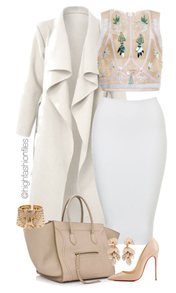 """Wintertime Shine"" by highfashionfiles on Polyvore featuring Delpozo, Christian Louboutin and Pasquale Bruni"