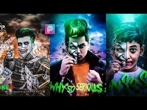 Picsart Joker Mobile Photo Editing Tutorial In Picsart Step