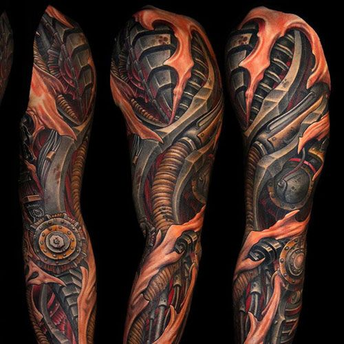 125 Best Sleeve Tattoos For Men Cool Ideas Designs 2020 Guide Biomechanical Tattoo Best Sleeve Tattoos Biomechanical Tattoo Design