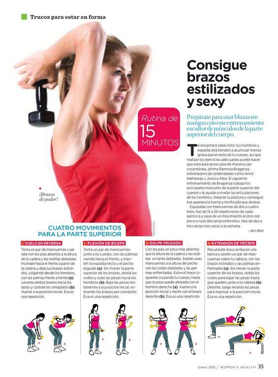Trabaja tus brazos con estos ejercicios, y disfruta usar blusas sin mangas.