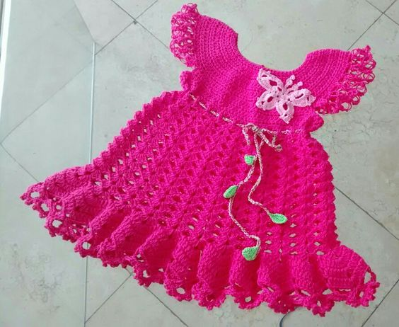 Vestido crochet niñas
