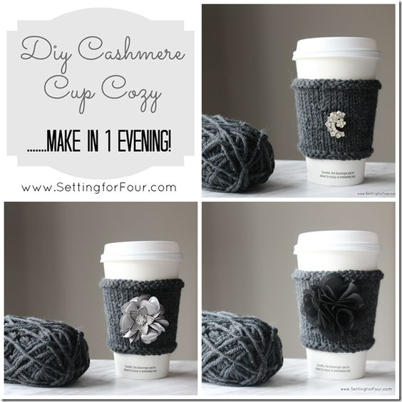 DIY Cashmere Cup Cozy // Knitting Tutorial Included!
