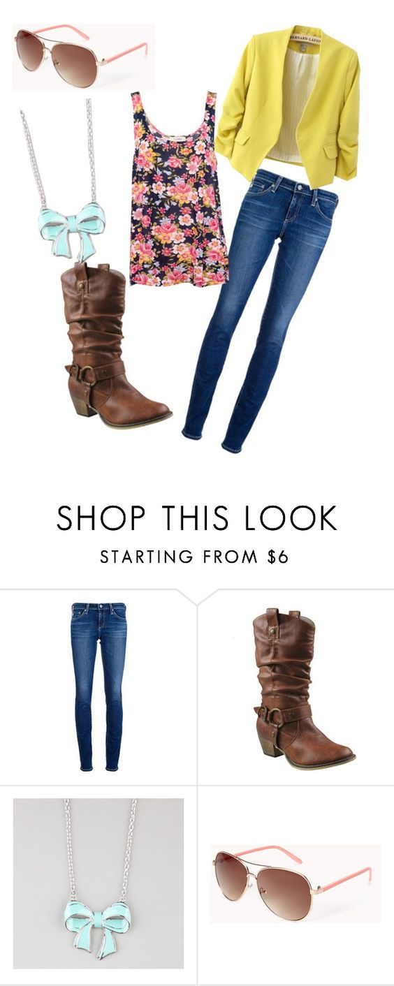 """""""Untitled #11"""" by lauracruz-lc ❤ liked on Polyvore featuring AG Adriano Goldschmied, Refresh, Full Tilt, Forever 21, Pull&Bear, women's clothing, women, female, woman and misses"""