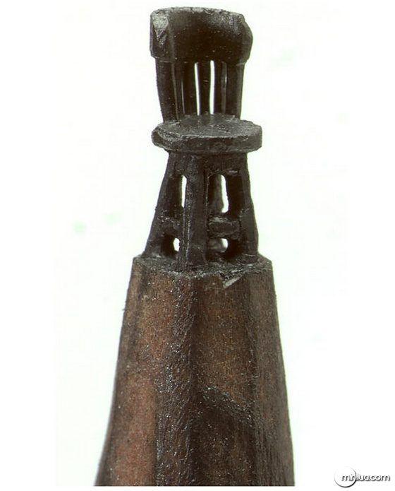 Esculturas em ponta de lápis
