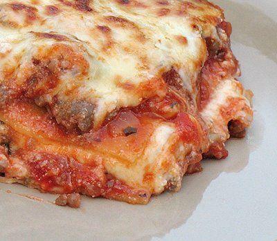 Italian lasagna with meat