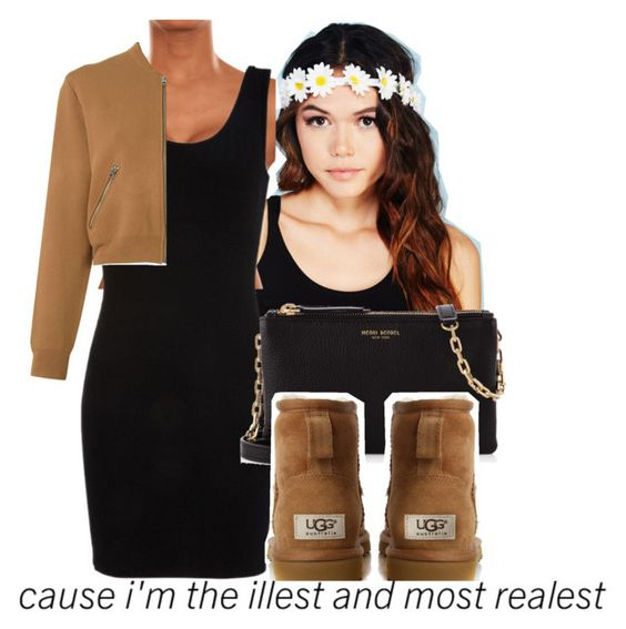not even but im the realest by swaggerkayla on Polyvore featuring Acne Studios, UGG Australia, Henri Bendel, Wet Seal and dELiA*s