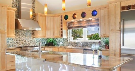 Stunning coastal kitchens, each showing a different eye-catching design idea.