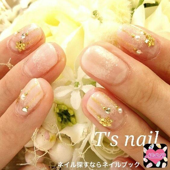 ネイル 画像 T's nail 弘明寺 1283397 ピンク グラデーション 冬 クリスマス ソフトジェル ハンド ミディアム