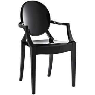 Modern Ghost chair - Philippe Starck Louis Black #GhostChair in black