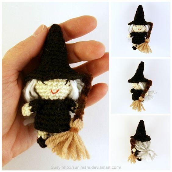 Amigurumi Halloween Patrones : Brujita de Halloween amigurumi Proyectos que intentar ...