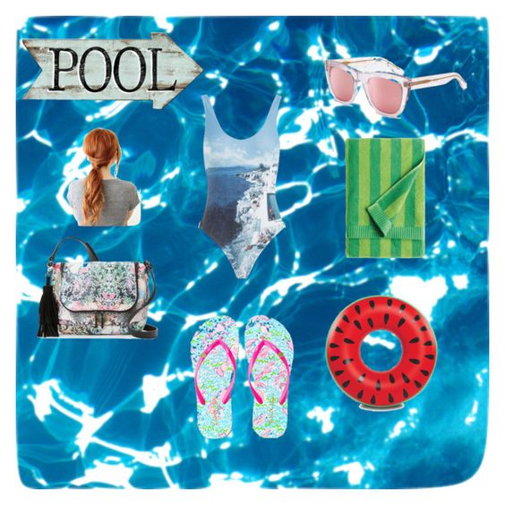 """A Day At The Pool"" by emmakeith2 ❤ liked on Polyvore featuring RetroSuperFuture, Marimekko, Lilly Pulitzer, Orlebar Brown, Big Mouth and French Connection"