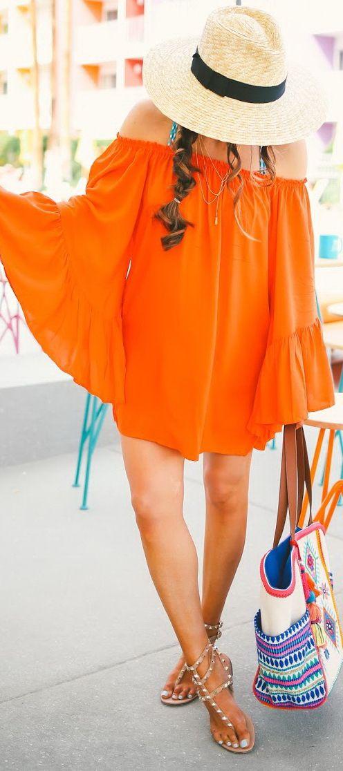Orange Summer Dress: