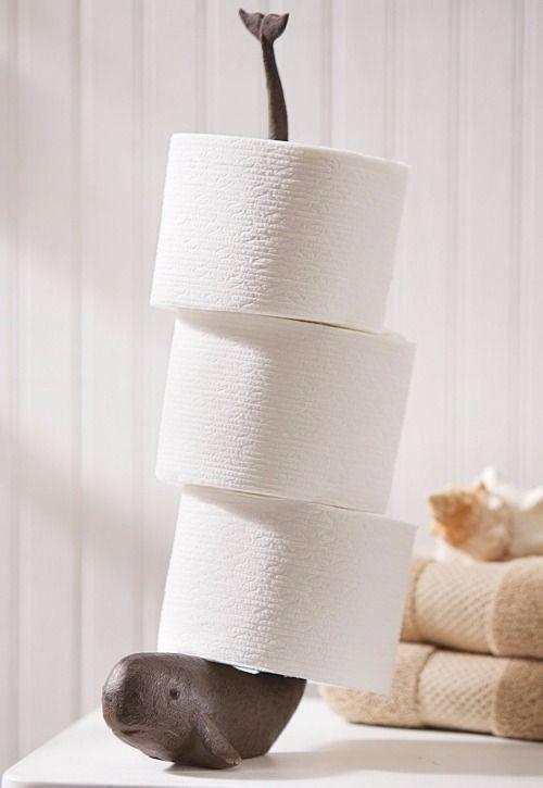 Fun Creative Bathroom Toilet Paper Roll Holders With A Coastal