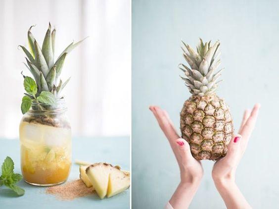 DIY-Anleitung: Ananas-Minz-Cooler selber machen via DaWanda.com