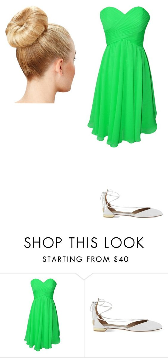 """""""Tinkerbell"""" by spencerhastings2002 on Polyvore featuring Aquazzura, women's clothing, women, female, woman, misses and juniors"""