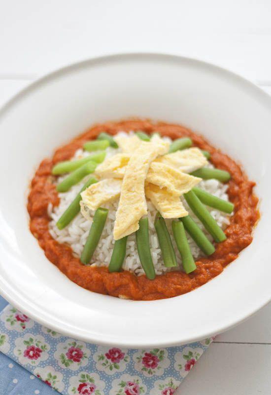 Receta 172 arroz blanco con salsa de tomate jud as - Comidas con arroz blanco ...