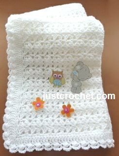 Free baby crochet pattern for shawl with cluster edge http ...