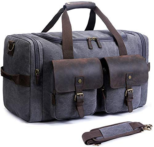 Y.H.W.U.S Genuine Leather Canvas Backpacks for School Large-Capacity Fashion Trend Travel Bag