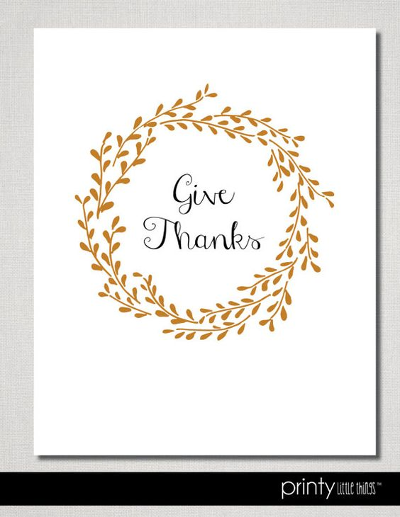 INSTANT DOWNLOAD  Give Thanks Wreath by printylittlethings on Etsy