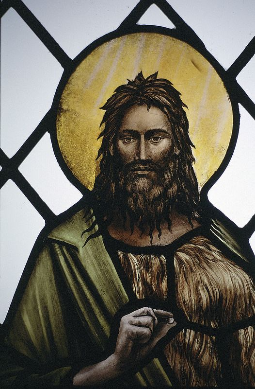 All Saint's Church, Broughton (detail) from a stained glass window by Benjamin Finn