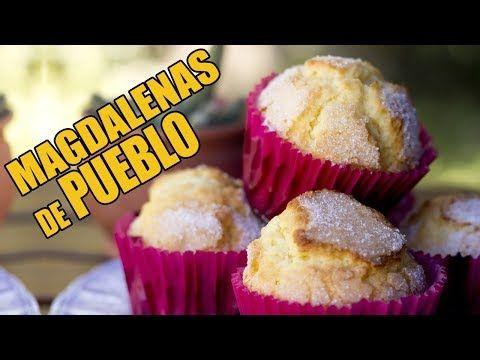 Magdalenas De Pueblo Super Esponjosas Youtube Recetas De