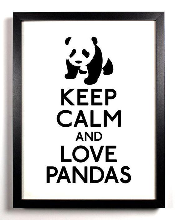 Keep Calm and Love Pandas Panda 8 x 10 by ...