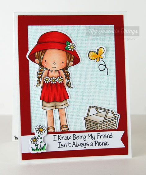 Every Day Is a Picnic stamp set and Die-namics, Linen Background, Fishtail Flags STAX Die-namics - Michele Boyer #mftstamps