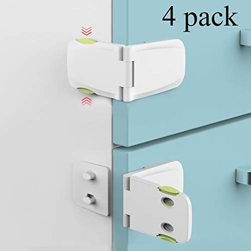 Been5le Child Safety Cabinet Locks 4 Pack Baby Proofing Cabinet Latch For Kitchen Storage Doors D In 2020 Baby Proof Cabinets Baby Proofing Kitchen Baby Proofing