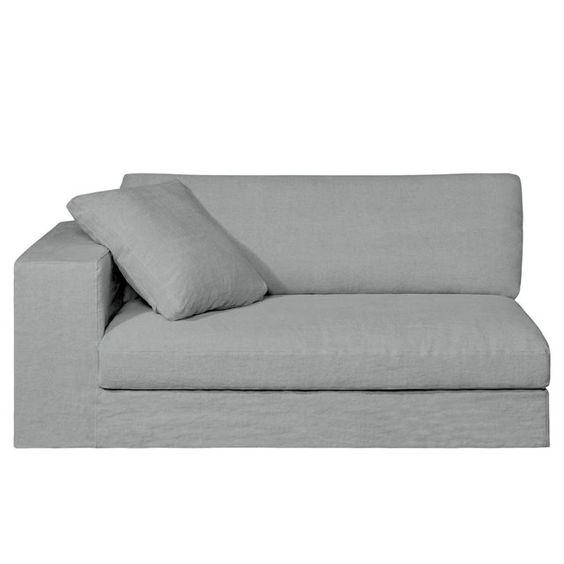 Demi-canapé fixe HORUS, toile pur lin épais BULTEX AM.PM