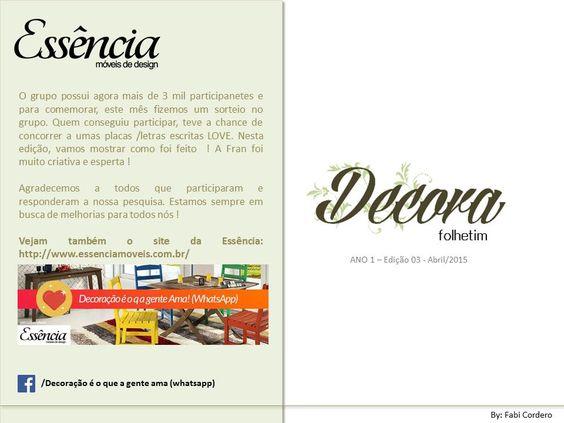 Folhetim Decora - 3a. edição - capa